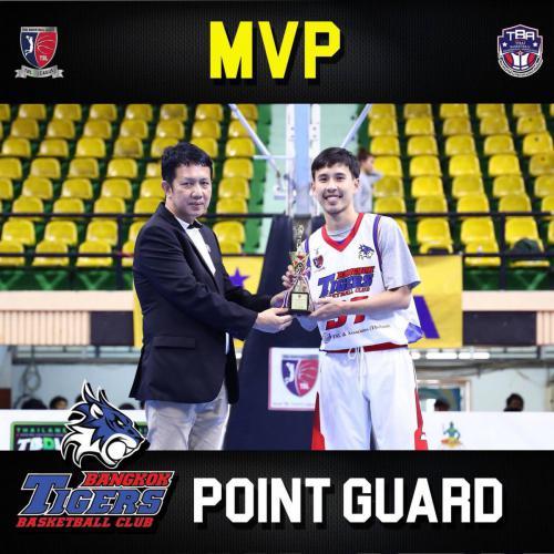 Supanut Thamkhantipong won MVP as Point Guard for the TBL D League 2018